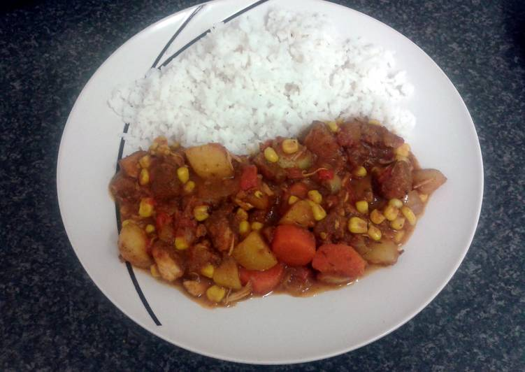 How to Prepare Perfect carribean chicken curry & rice