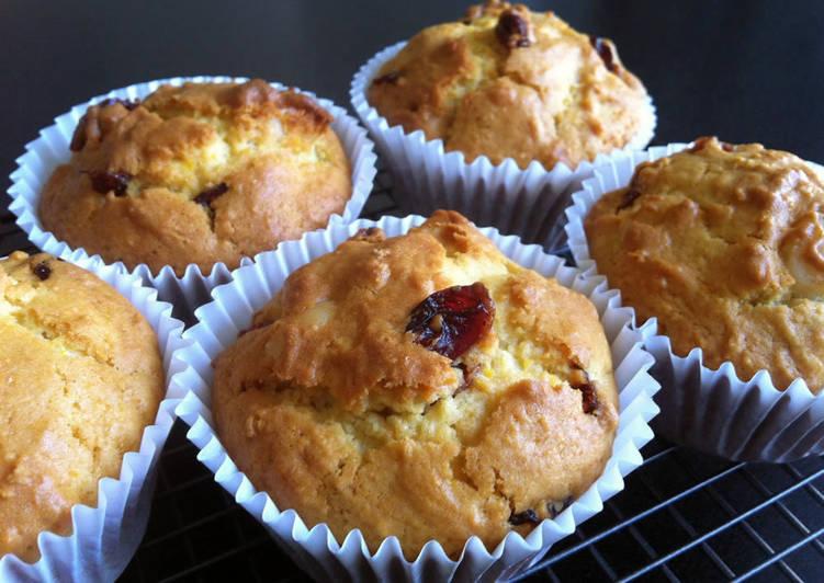 Orange Cranberry & Macadamia Muffins