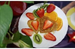 #cleaneating Pancake yến mạch với hoa quả và mật ong ???