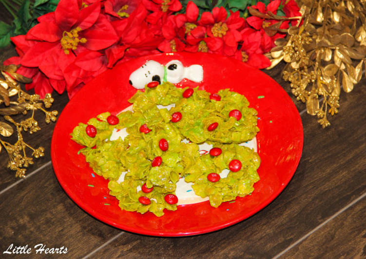 Recipe of Homemade Guys Cornflakes + Marshmallows Christmas Wreaths