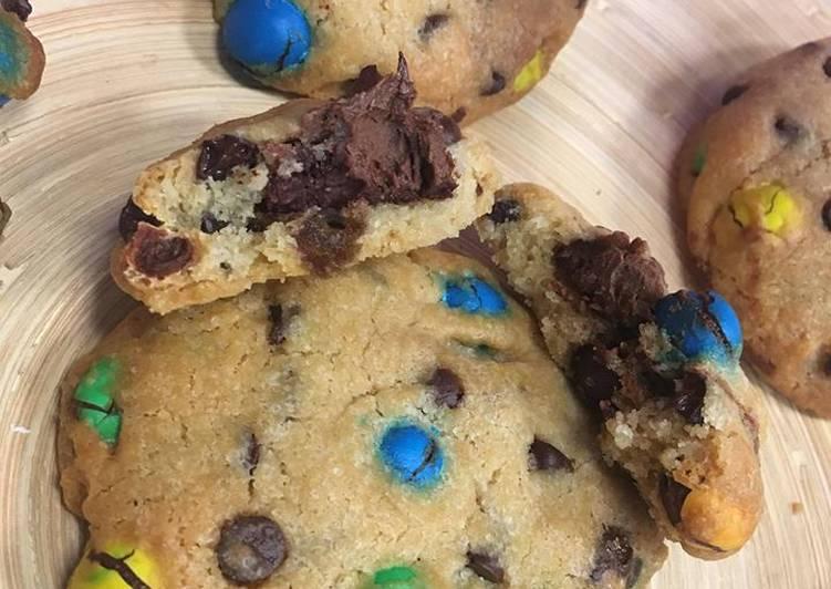Recette Appétissante Cookies M&MS Nutella