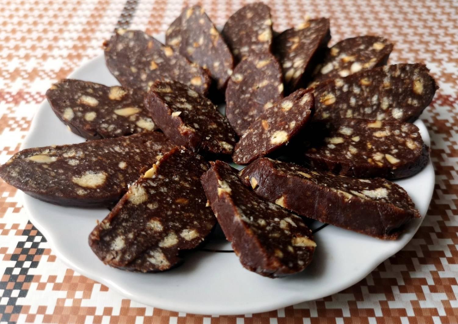 шоколадные колбаски из печенья рецепт с фото меня есть сложные