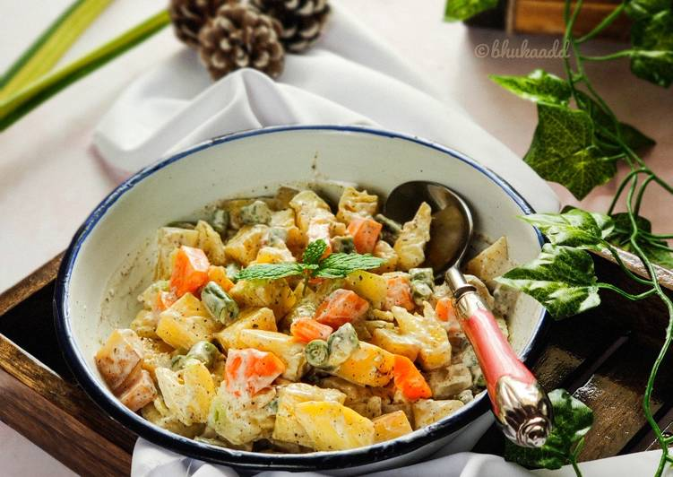 The Best Soft and Chewy Dinner Ideas Quick RUSSIAN SALAD with Indian twist