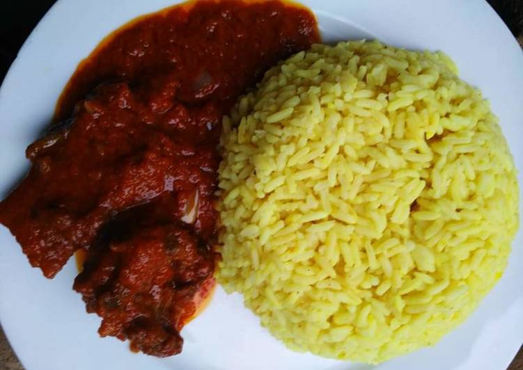 Steps to Prepare Homemade Curry rice with tomato goat meat sauce
