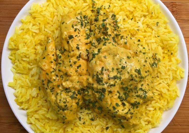 Poulet curry coco avec son riz au curry
