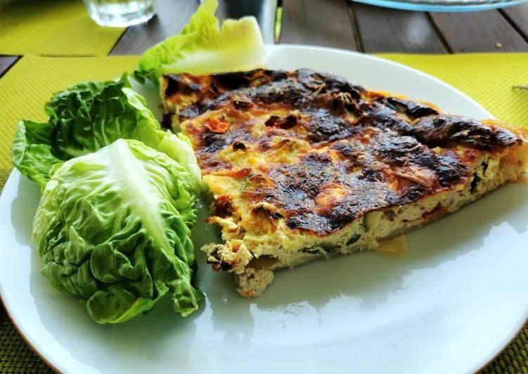 Recipe: Perfect Tarte poulet, tomates et courgettes