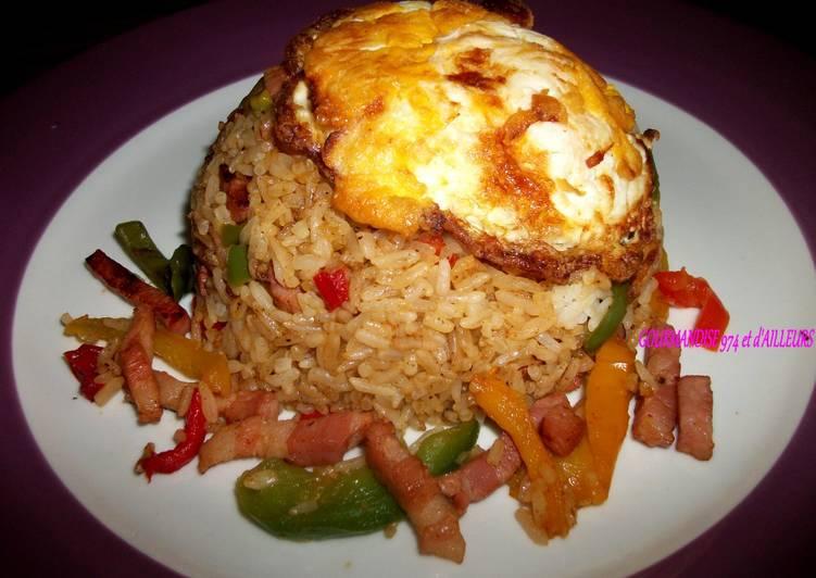 Riz frit aux lardons & œufs