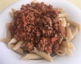 Salsa de tomate con carne picada - salsa boloñesa