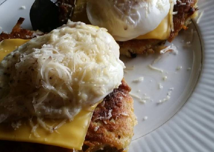 Brad's beer cheese potato cakes