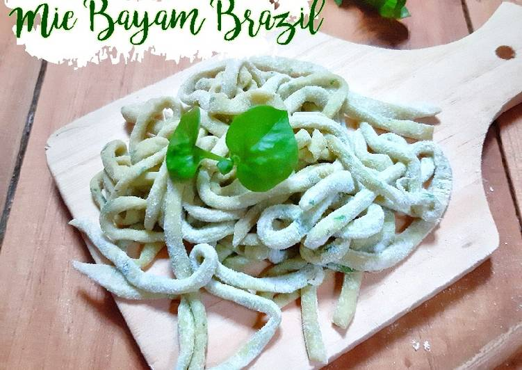 Mie Bayam Brazil Homemade