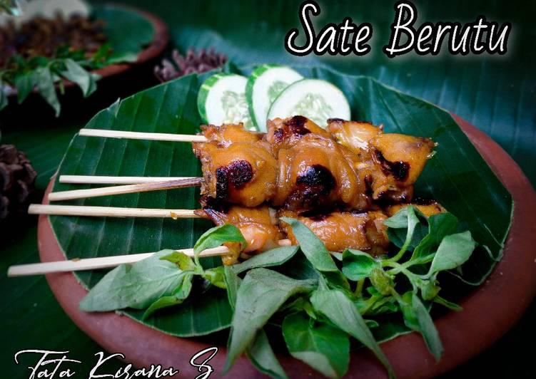 Resep Sate Berutu Ala Angkringan (brutu/pantat ayam) Terenak