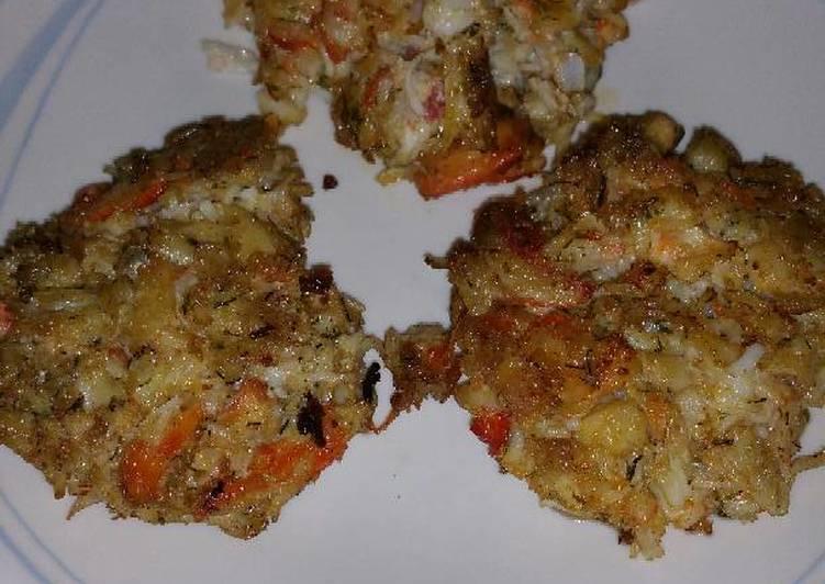 Breadless Crab Cakes