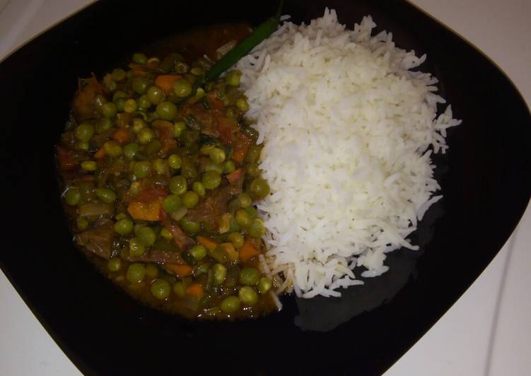 Recipe of Speedy Rice and peas stew