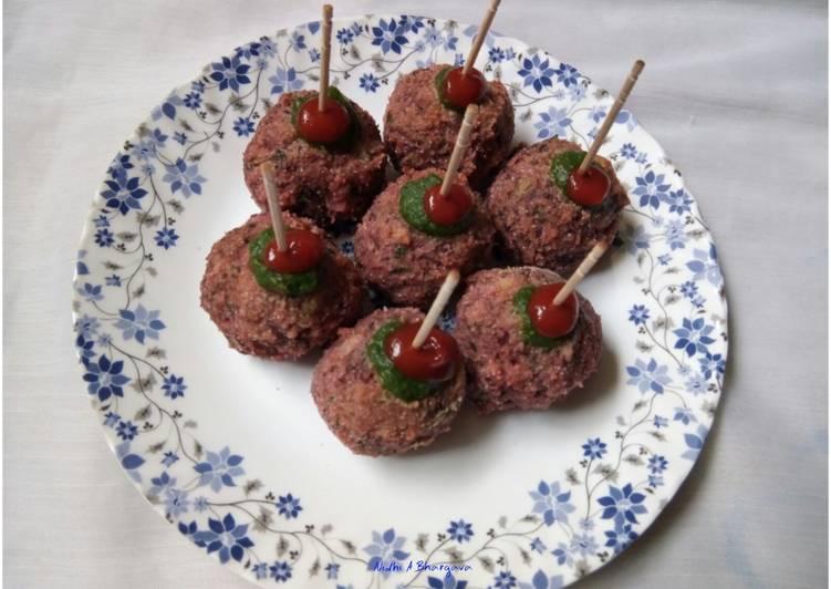 Baked beetroot balls