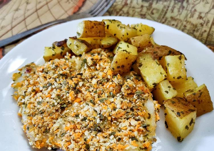 Baked Honey Dory and Potatoes (ide MPASI 1+ Y.O.)