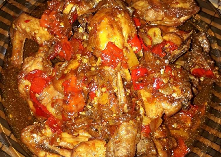 Ayam kecap pedes manis