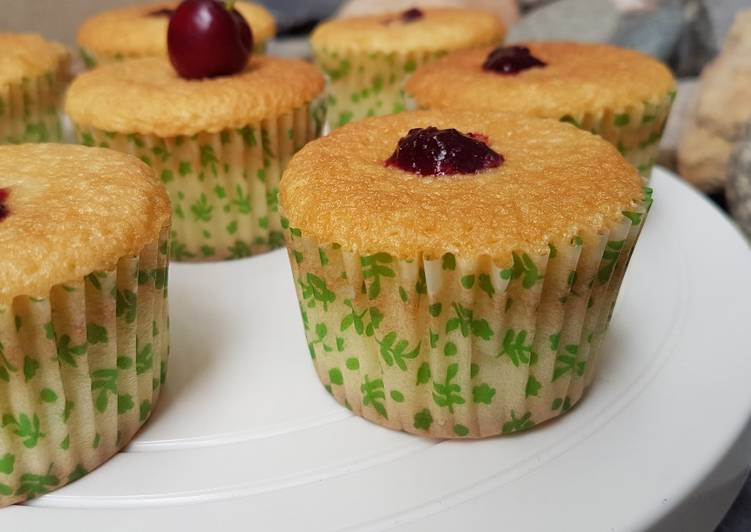 Recipe of Super Quick Homemade Cherry Cupcakes
