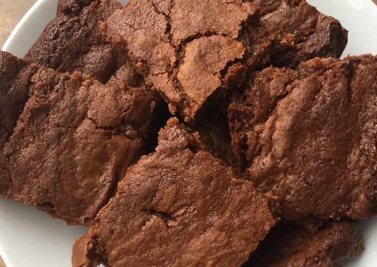 Gooey chocolate fudge brownies