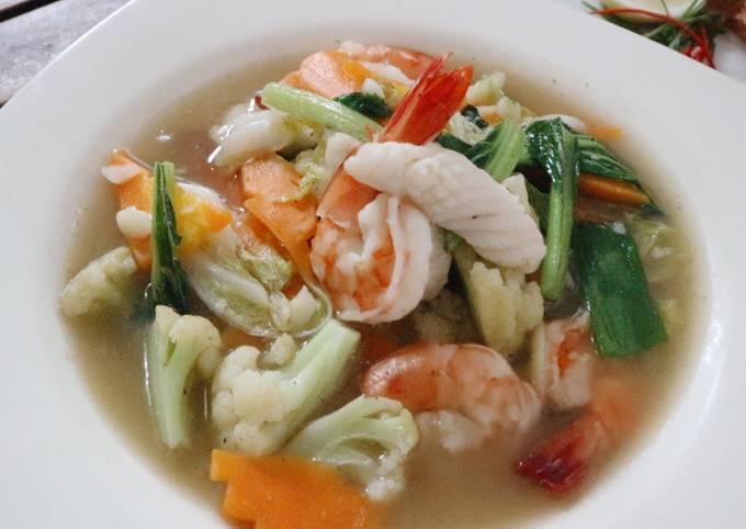 Resep Capcay Kuah Seafood Oleh Ameliaputrioct Cookpad