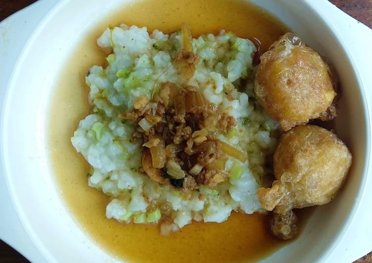 Nasi Tim Semur Daging with Perkedel daging kentang
