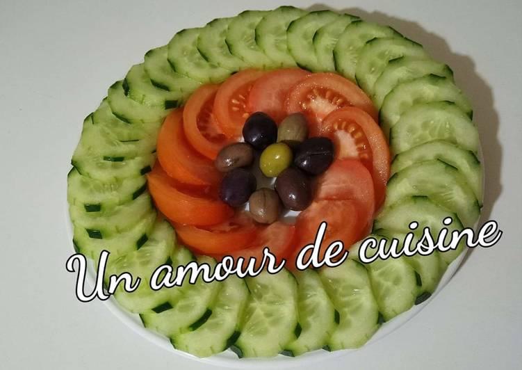 Salade de tomate/ concombre