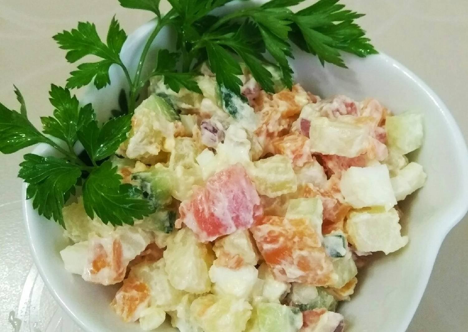 Салат из красной рыбы рецепт с фото