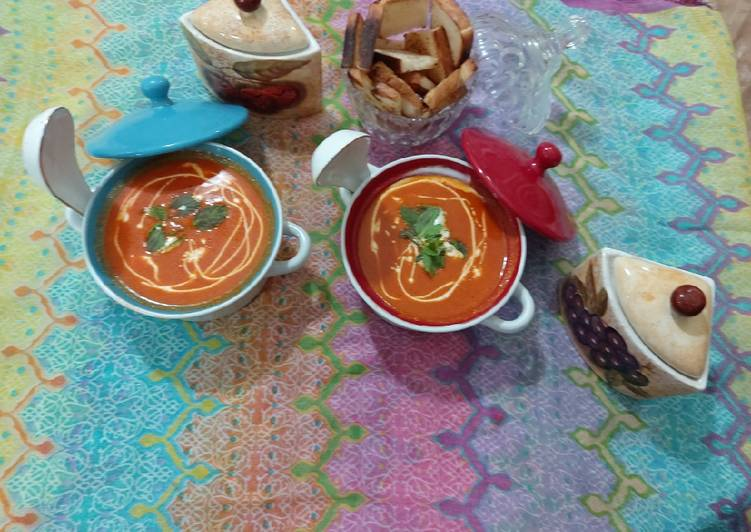 Step-by-Step Guide to Make Homemade Tomato carrot beetroot soup / yammy tasty healthy soup