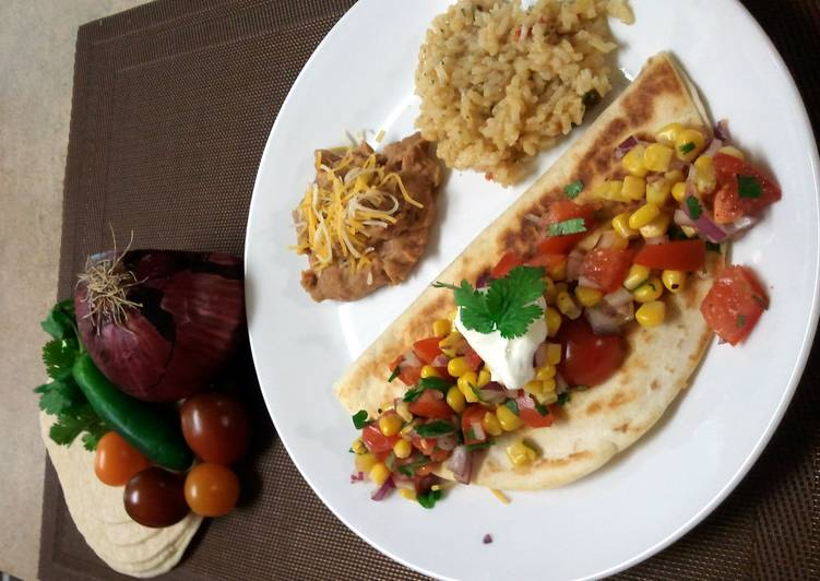 How to Prepare Super Quick Homemade Chicken Quesadillas with Corn Salsa