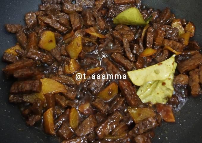 sambal goreng tumis basah tempe + kentang - resepenakbgt.com