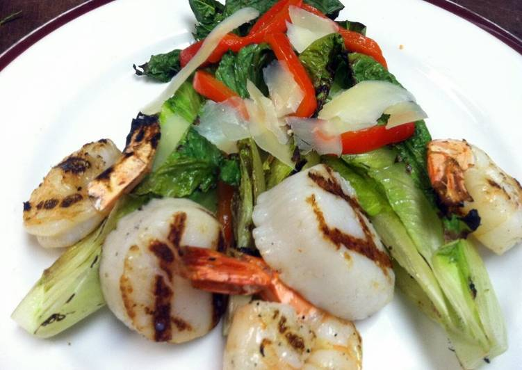 Recipe: Yummy Grilled Seafood Salad