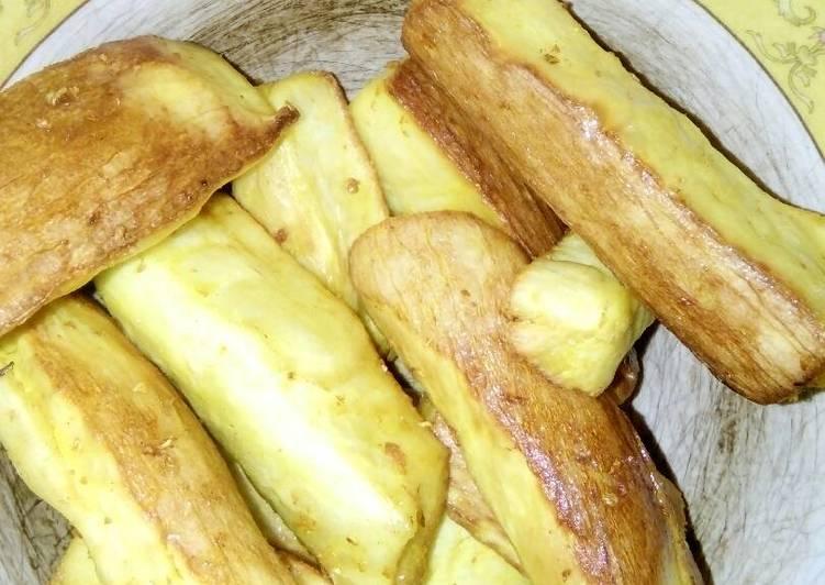 Singkong goreng royco