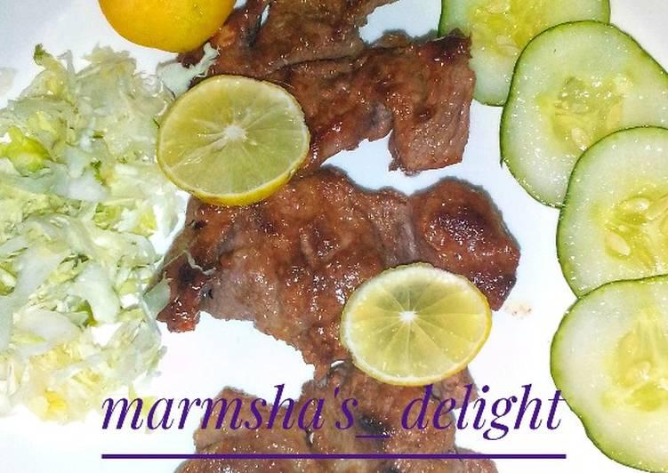 Easiest Way to Make Homemade Pan grill lamb in lemon marinade
