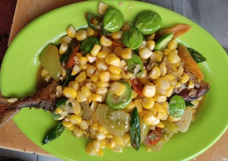 79.ikan peda tumis jagung pete