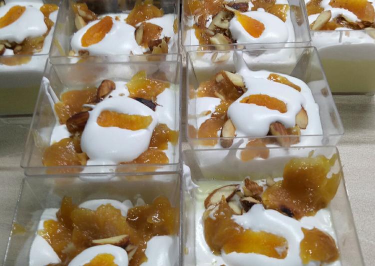 Apricot Custard pudding