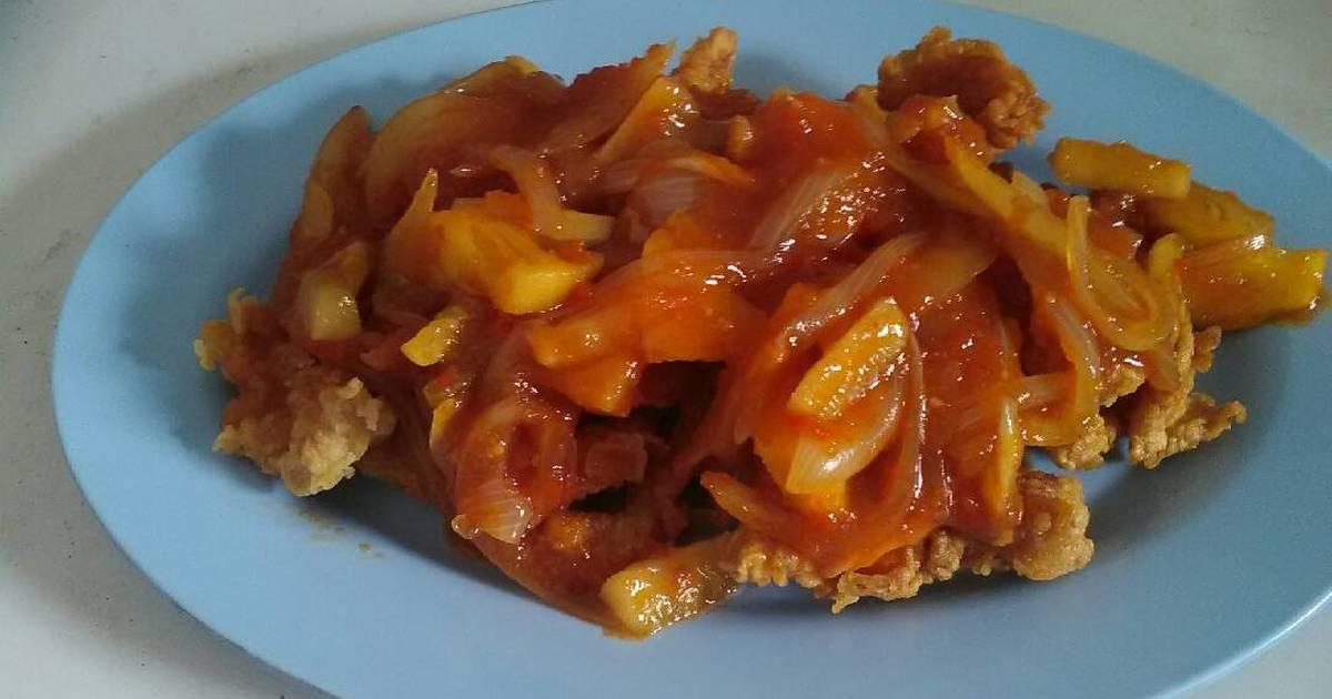 Resep Ayam Fillet Tepung Saus Asam Pedas Manis Oleh Agustwin Cookpad