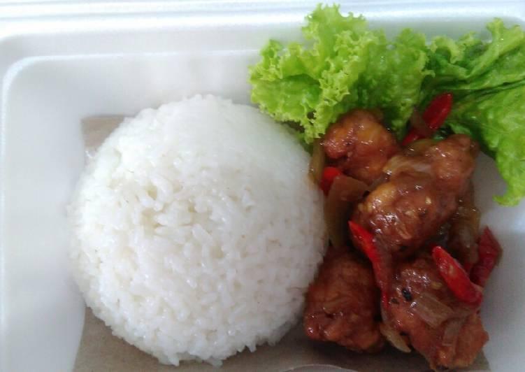 Ayam crispy saus lada hitam