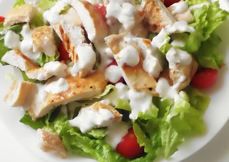 Recipe: Appetizing Lighter Chicken Caesar Salad