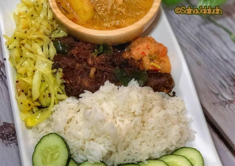 Nasi Kukus Ayam Goreng Berempah - velavinkabakery.com
