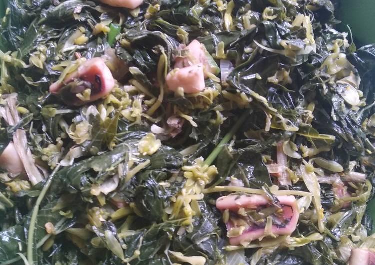 Resep Sayur daun pepaya tumis cumi Yang Simple Pasti Sedap