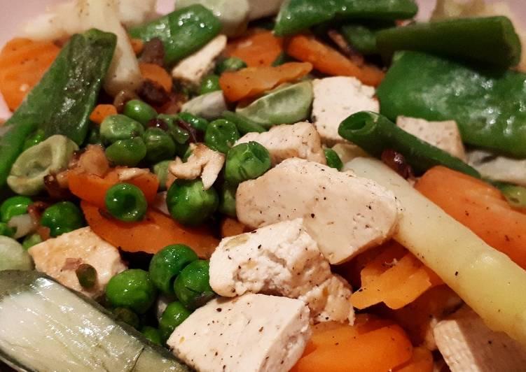 Tofu Salteado Con Menestra De Verduras Receta De Pequeña