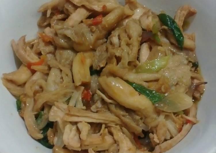 Resep Cah Jamur Ayam Suwir Ala Warung Ss