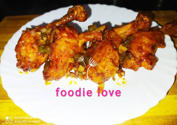 Indo Chinese Saucy Lollipop chicken