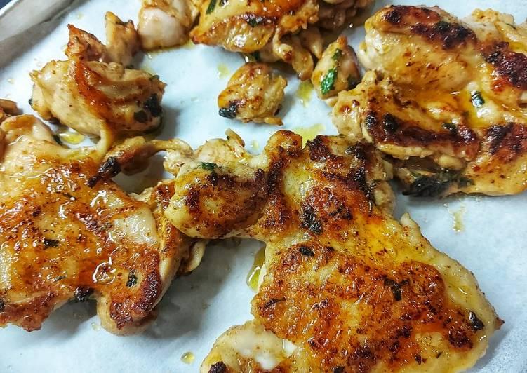 Cilantro Lime Chicken (Ayam Panggang Daun Ketumbar/Wansui) - cookandrecipe.com