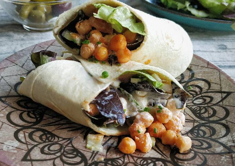 Recipe: Yummy Burrito de garbanzos picantes