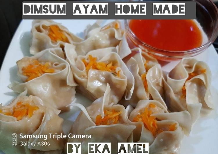 Dimsum ayam praktis lapis kulit pangsit dgn Saus dimsum homemade