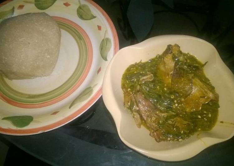 Recipe of Speedy Ogbono soup with white garri