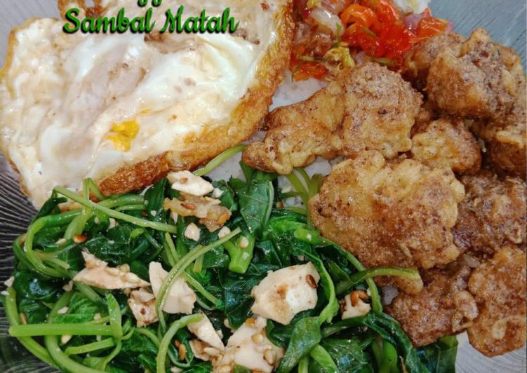 Rice Bowl  Salted Egg Chicken Sambal Matah