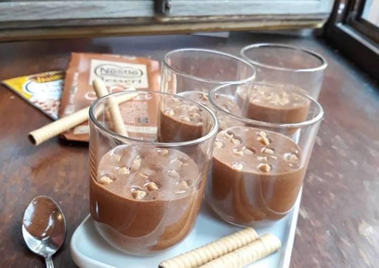 recette ☆Mousse Chocolat Caramel et Pépites de Caramel☆ délicieux