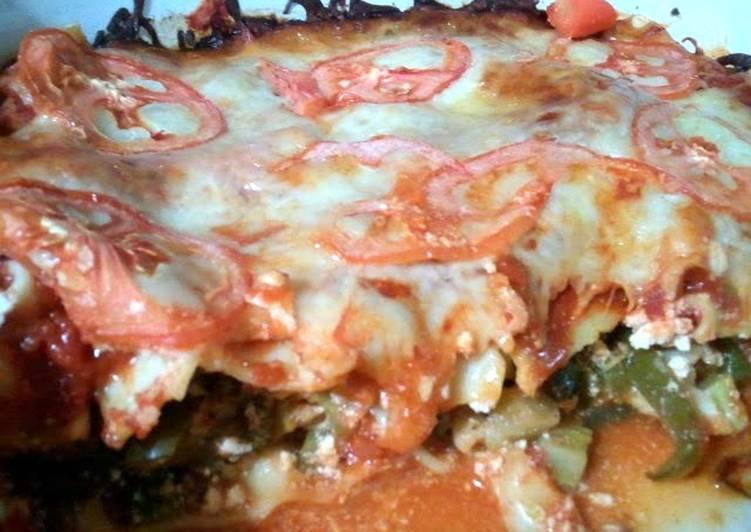Quick and Easy Recipe: Appetizing vegetarian lasagna