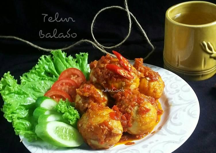 Telur Balado + tips supaya tdk meledak saat digoreng